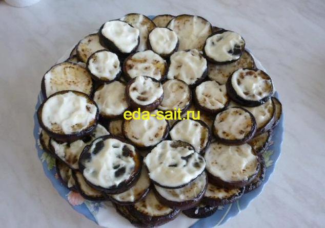 Баклажаны с чесноком и майонезом пошаговый рецепт с фото