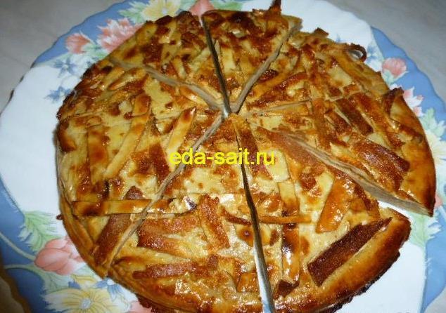 Блинный торт со сметаной фото
