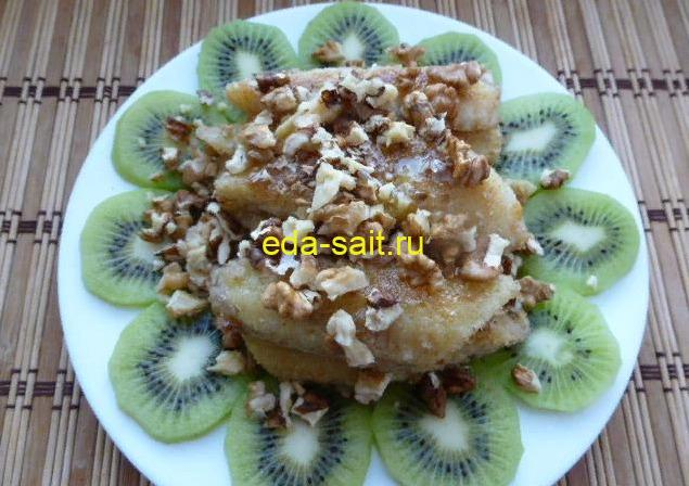 Как приготовить десерт из жареных бананов