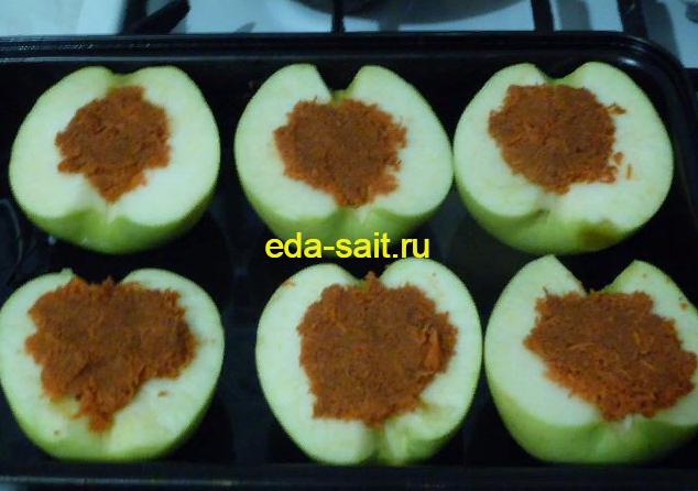 Яблоки фаршированные морковью пошаговый рецепт с фото