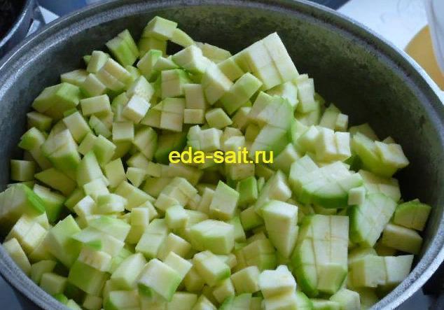 Тушеные кабачки с сыром фото