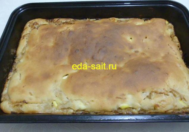 Жидкое дрожжевое тесто для пирога