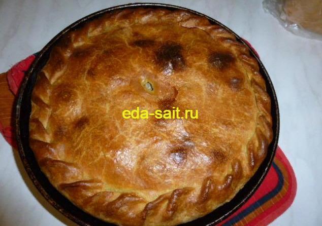 Пирог с курицей и картошкой  пошаговый рецепт с фото