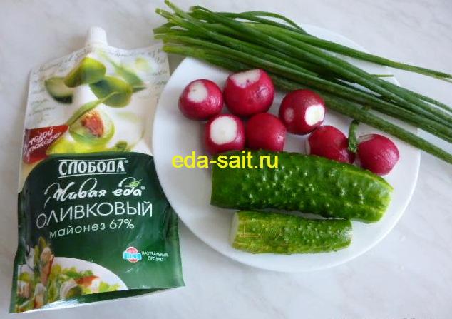 Рецепты весенних салатов