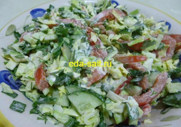 Салат с капустой и овощами пошаговый рецепт с фото