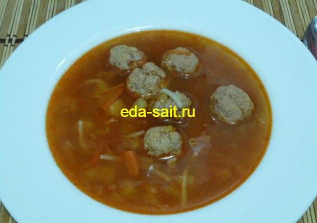 Суп с фрикадельками из свинины пошаговый рецепт с фото
