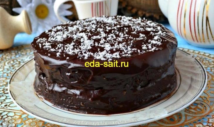 Торт Баунти рецепт с фото пошагово