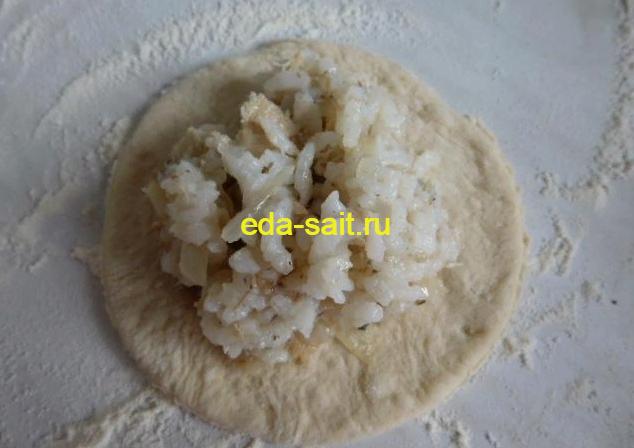 Пирожки с рисом и консервами пошаговый рецепт с фотографиями