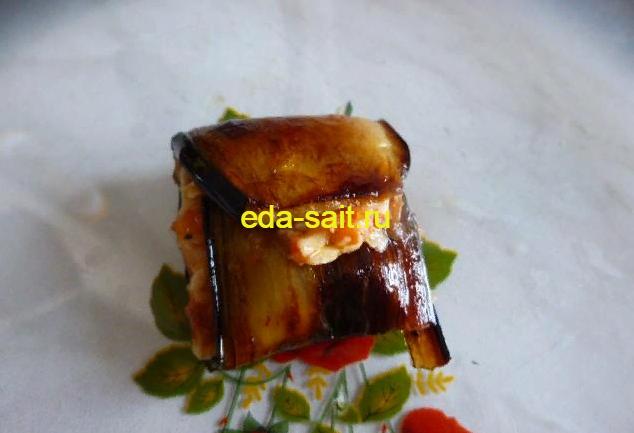 Рулетики из баклажанов пошаговый рецепт с фото