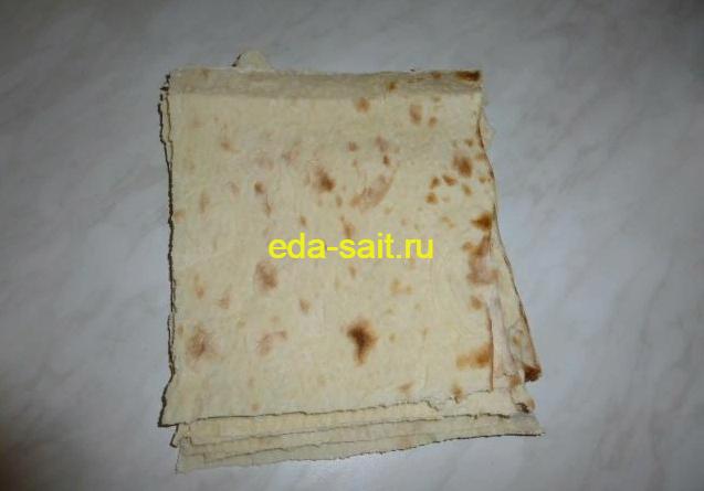 Как приготовить конвертики из лаваша с яйцами и сыром