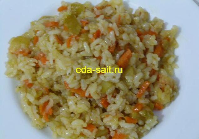 Тушеные кабачки с рисом фото