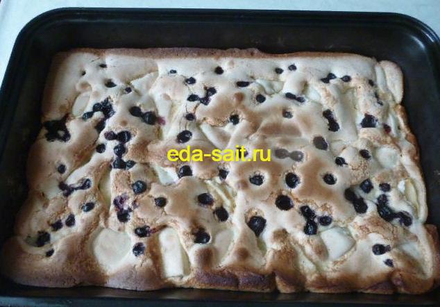 Пирог с айвой фото