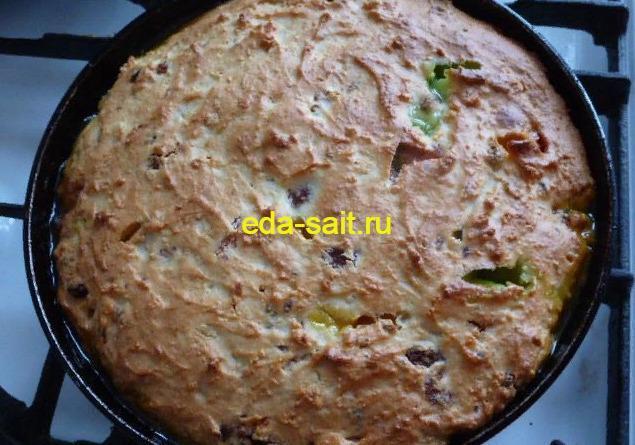 Вкусный творожный кекс в духовке