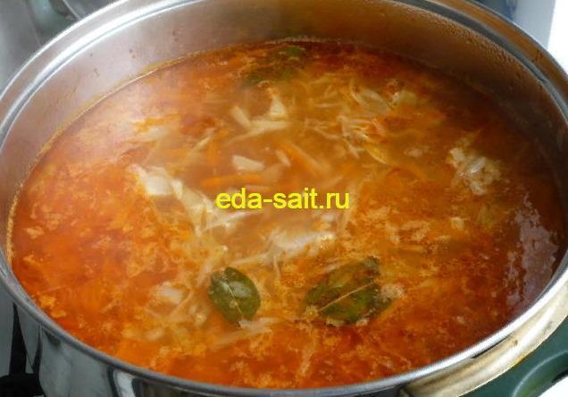 Щи из свежей капусты со свининой пошаговый рецепт