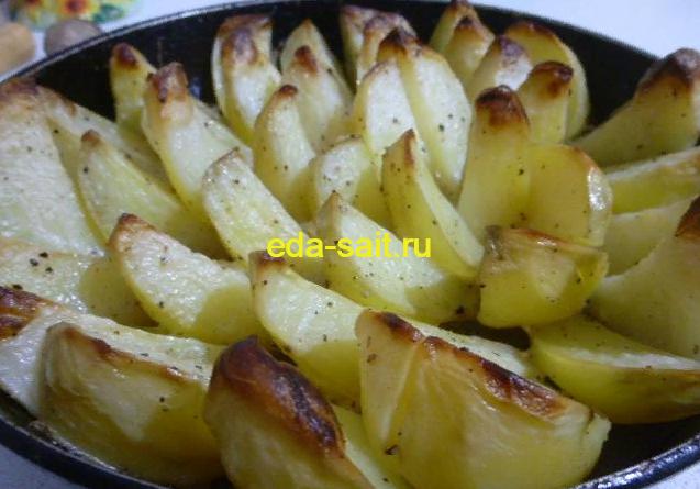 Запеченная картошка в духовке фото
