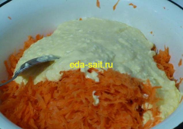 Запеканка из творога и моркови пошаговый рецепт с фото