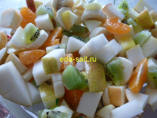 Фруктовый салат со сметаной фото
