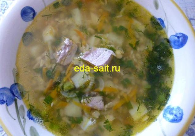 Гороховый суп со свининой фото