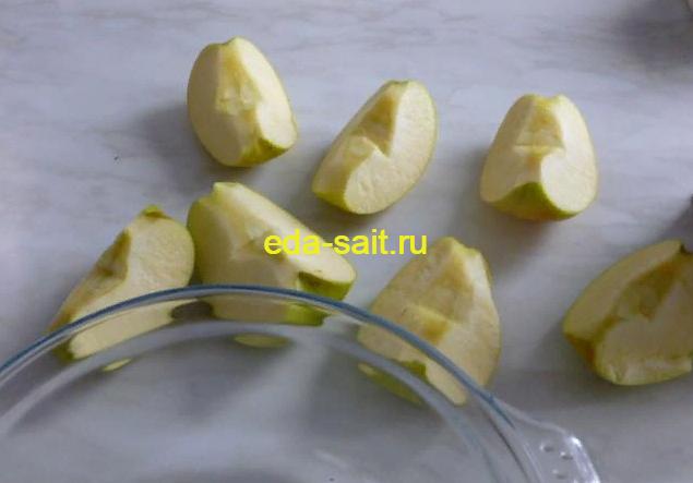 Яблоки для фарширования блинов