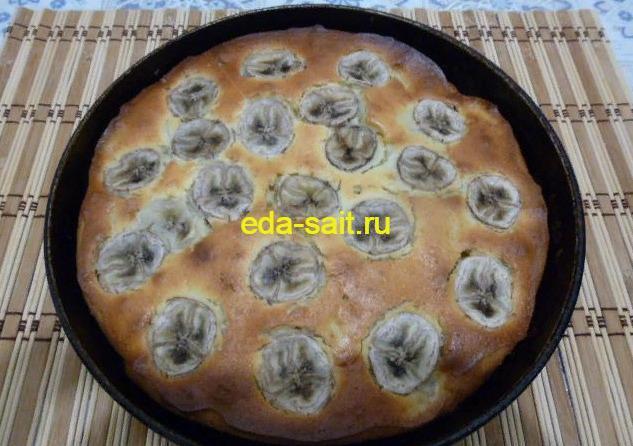 Пирог с бананами рецепт с фото