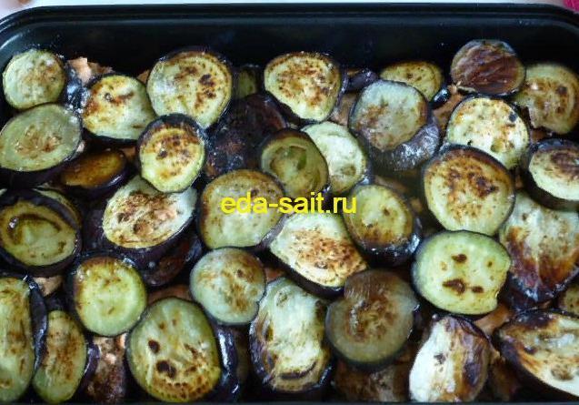 Баклажаны с куриной печенью рецепт с фото