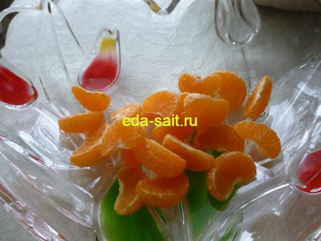 Дольки мандарина для фруктового салата