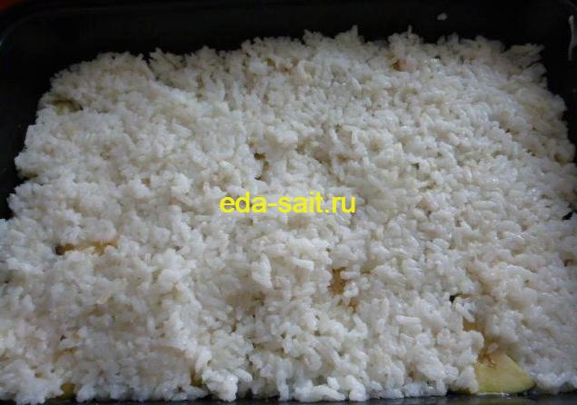 Баклажаны с рисом и фаршем формирование