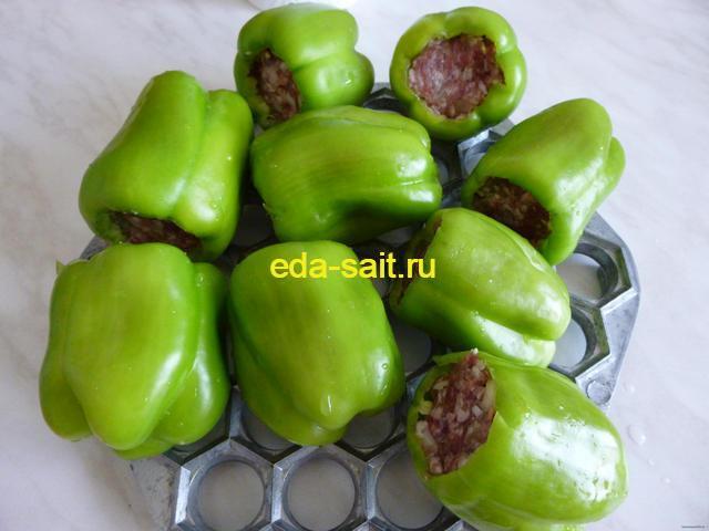 Болгарский перец с фаршем и рисом пошаговый рецепт с фото