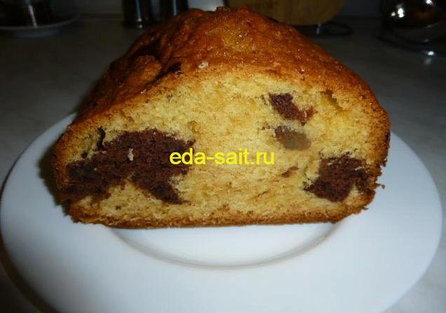 Кекс двухцветный в автоматической хлебопекарне фото