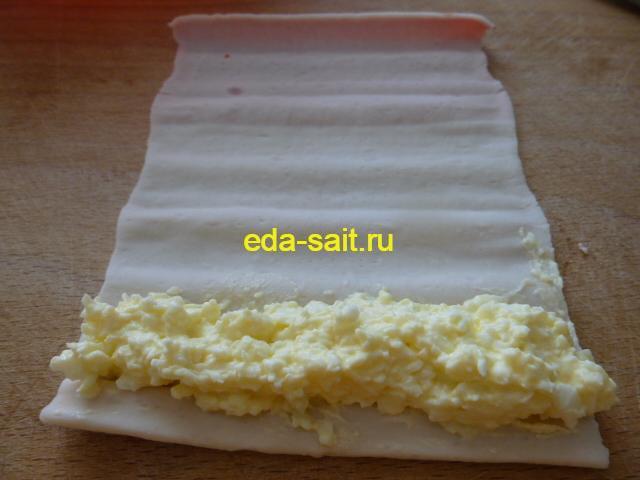 Фаршированные крабовые палочки с сыром, яйцом и чесноком