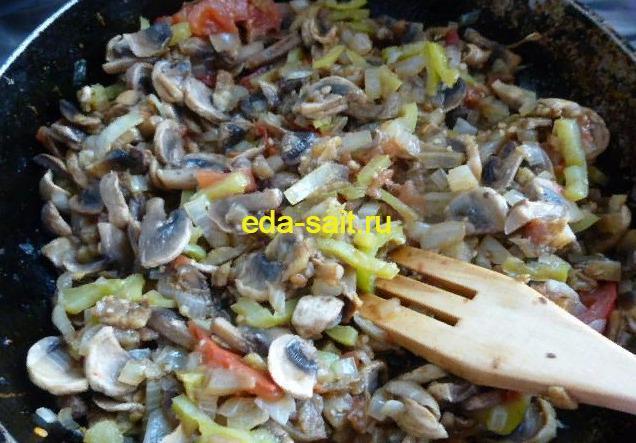 Начинка с грибами для фарширования баклажанов