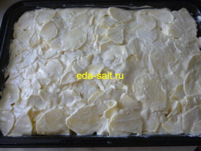 Индейка под шубой в духовке пошаговый рецепт с фото