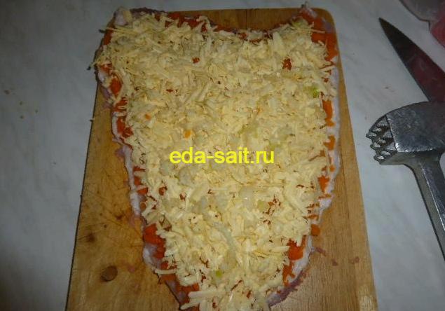 Рулет из свинины с морковью пошаговый рецепт с фото