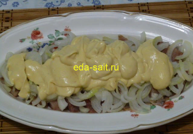 Закуска из сельди в соусе рецепт с фото