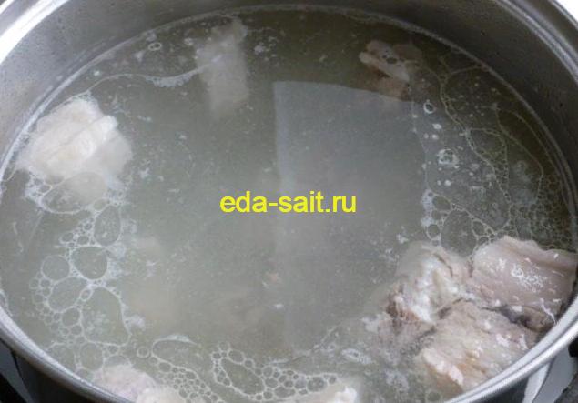 Готовое мясо для супа