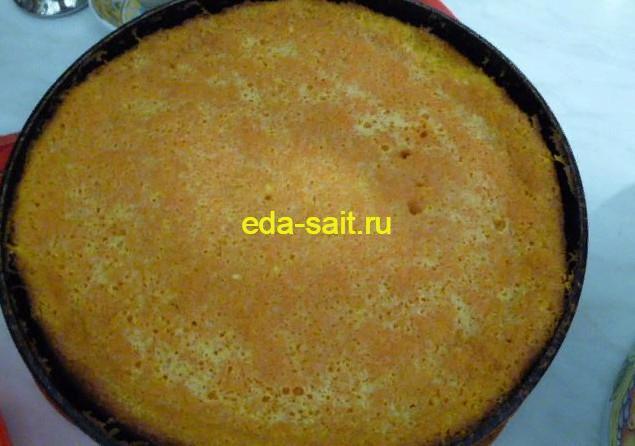 Морковный торт без крема