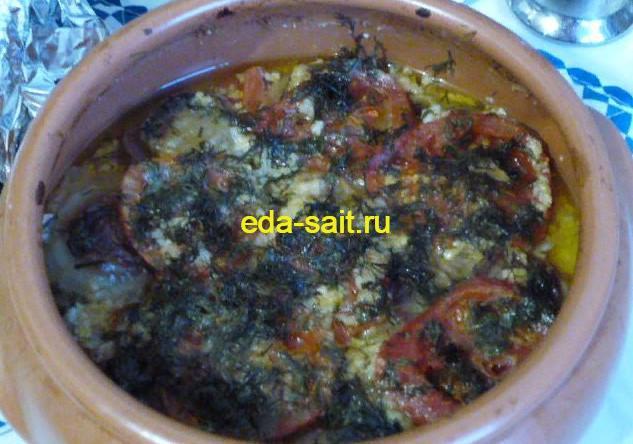 Кабачки с творогом и помидорами