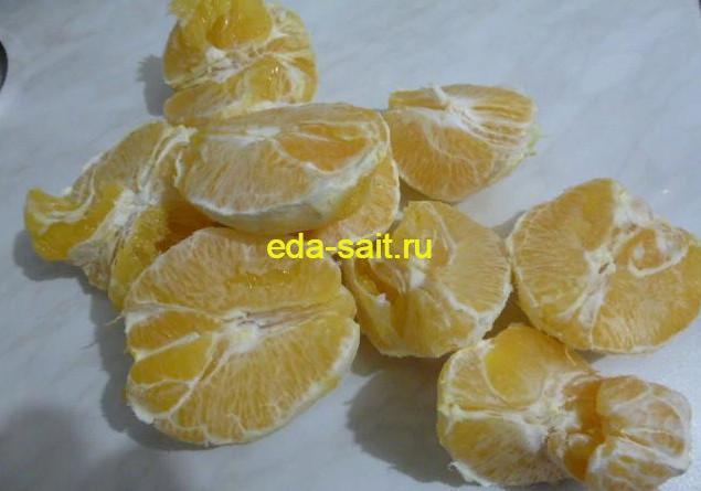 Апельсины очищенные от кожуры для пирога