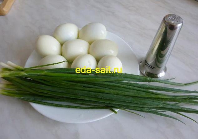 Пирожки с яйцами и зеленым луком продукты для начинки