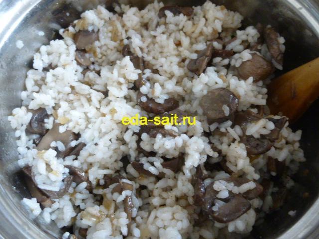 Голубцы с рисом и грибами начинка