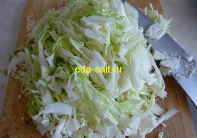 Шинкуем капусту в щи из свежей капусты без картошки