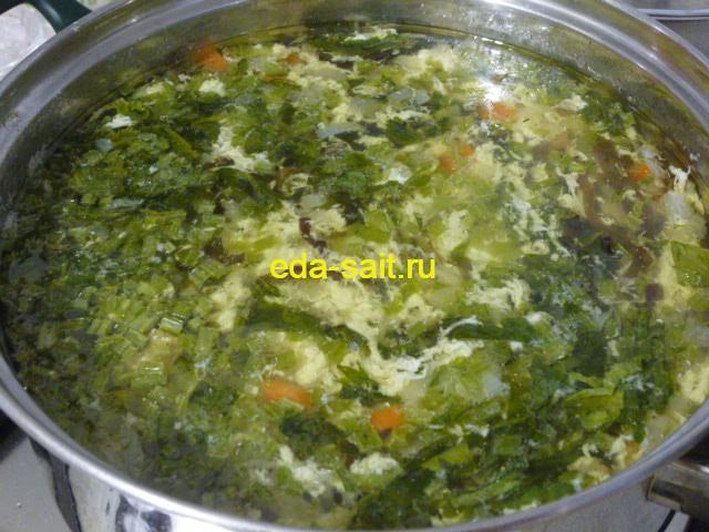 Суп с морской капустой и консервами
