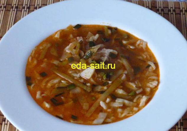 Суп с зеленой редькой