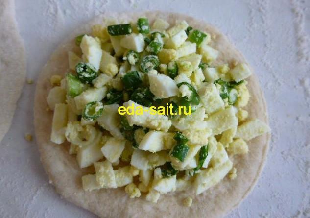 Пирожки с яйцами и зеленым луком пошаговый рецепт с фото