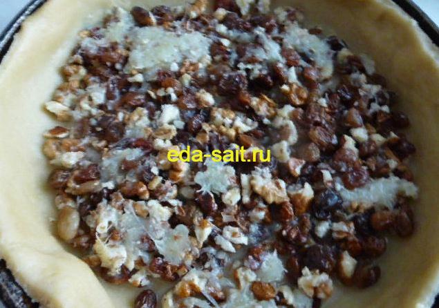 Формируем песочный пирог с вишней
