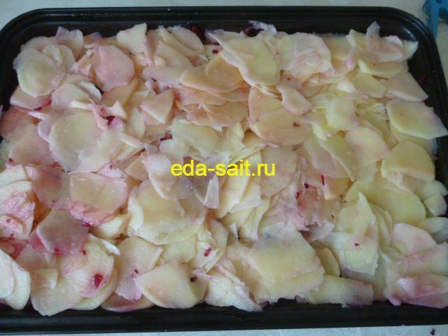 Четвертый слой мяса под шубой картошка
