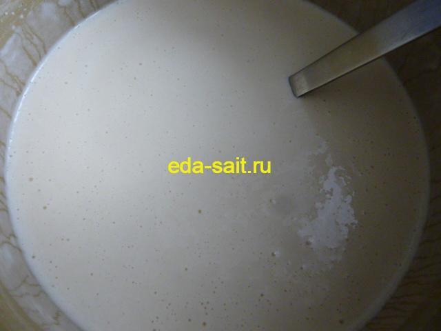 Блинное тесто для фаршированных блинов с морковью