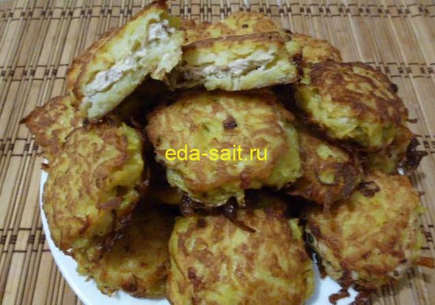 Колдуны из картофеля с фаршем фото