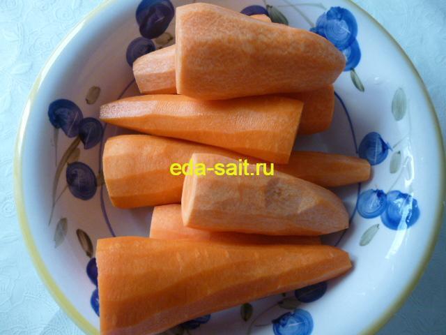 Морковь для фарширования блинов