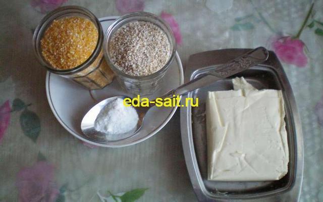 Набор продуктов для кукурузно-ячневой каши